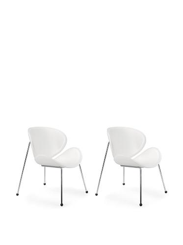 Zuo Set of 2 Modern Match Lounge Chairs (White)