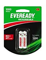 Eveready Rechargeable 1000 series 2AA Battery 600mAh