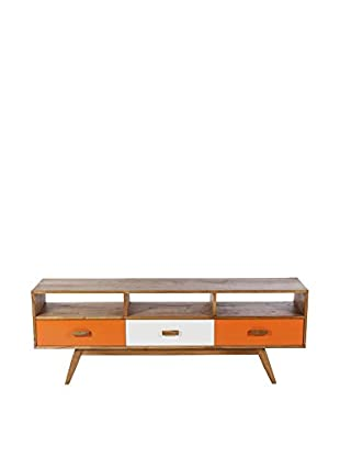 Control Brand The Mid Century Edit 3-Drawer Credenza, Multi