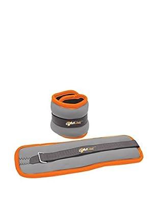 GYMLINE Gewichtsmanschette 2x orange/grau