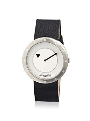 Simplify Women's 2201 The 2200 Black & White Leather Watch