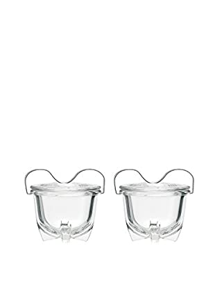 Jenaer Glas Set of 2 Wagenfeld Collection Glass Egg Coddlers, 8.4-Oz