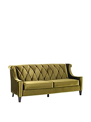 Armen Living Barrister Sofa, Green Velvet