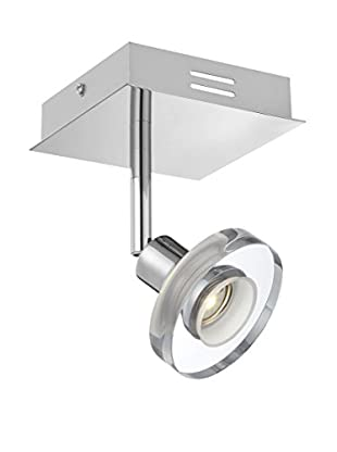 Lite Source Elettra LED Wall Lamp, Chrome/Clear