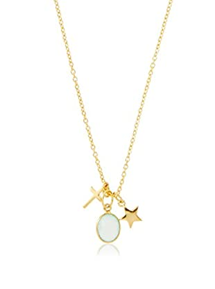 Argento Vivo Cross, Stone & Star Charm Necklace