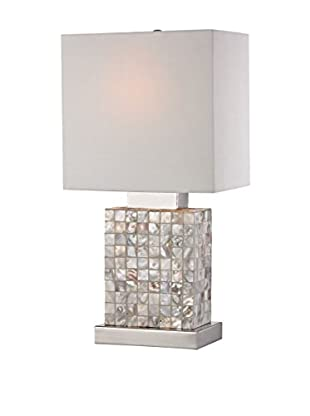 Artistic Lighting Mini Mother Of Pearl Table Lamp, Mother Of Pearl/Chrome