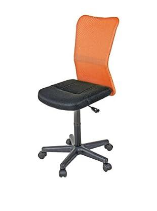Stuhl Nelson schwarz/orange