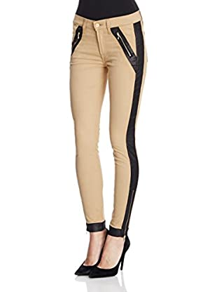 7 For All Mankind Hose Contrast Pieced camel W28