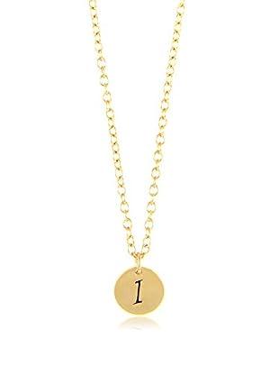 Ettika 18K Gold-Plated I Initial Charm Necklace