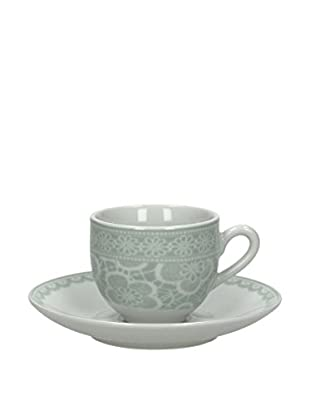 Tognana Kaffeetasse Mit Untertasse 6er Set Olimpia Macramé grau