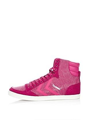 Hummel Sneaker Slim Stadil Washed High (himbeere)