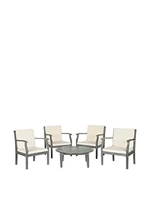 Safavieh Colfax 5-Piece Coffee Set, Ash Grey/Beige