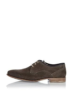 Fretz Men Zapatos Derby Sebastian (Gris / Azul)