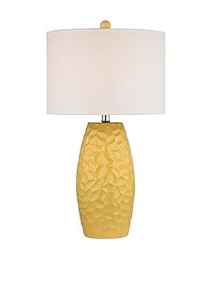 Artistic Lighting Sunshine Yellow Ceramic Table Lamp