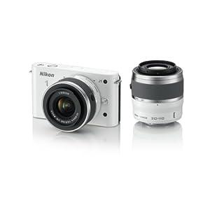 Nikon デジタル一眼カメラ Nikon 1 (ニコンワン) J1 (ジェイワン) ダブルズームキット ホワイトN1 J1WZ WH