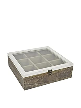 Three Hands Square Wood Storage Box