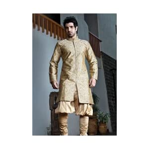 Utsav Fashion Indo Western Suit - Fawn