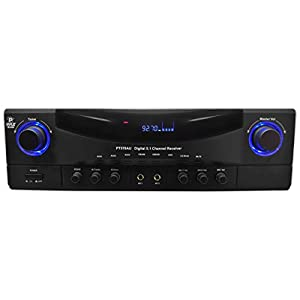Pyle PT570AU 5.1-Channel Amplifier Receiver 350 Watts AM/FM Radio