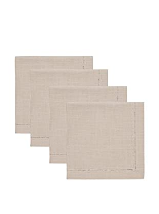 KAF Home Set of 4 Rustic Hemstitch Napkins