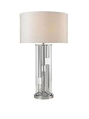 Artistic Lighting Table Lamp, Chrome/Clear