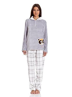 Muslher Pijama Sra Con Camisa Media (Gris)