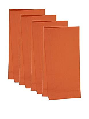 KAF Home Set of 4 Solid Napkins, Orange