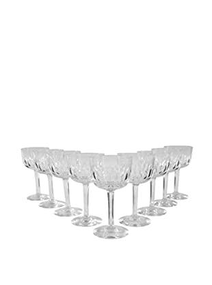 Set of 9 French Coupe Wine Glasses, Clear