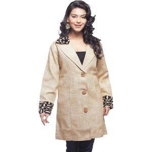 Lavennder Women's Beige Jute Coat