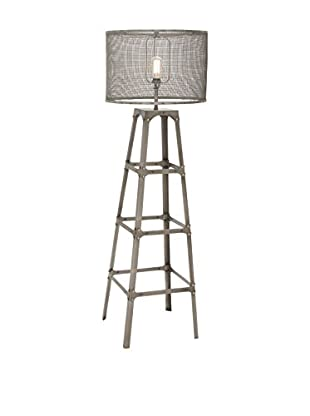 Metal 1-Light Floor Lamp, Gray
