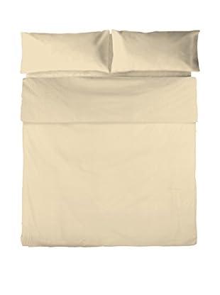Basic Juego De Funda Nórdica Liso Crema Cama 105 (180 x 220 cm + 45 x 125 cm)