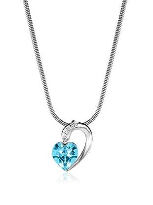 Absolute Crystals Set Kette und Anhänger Half Heart aquamarin