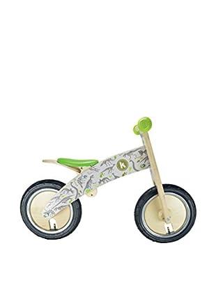 Kiddimoto Laufrad Kurve Premium Laufrad Fossil weiß/grün