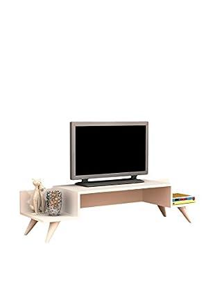 Minar Fernsehmöbel Kivilcim Retro weiß