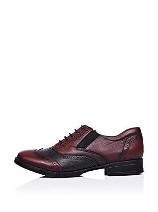 Ziya Zapatos Oxford Picados (Burdeos / Negro)