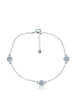 Diamond Style Fußkette Trio Clear Crystal