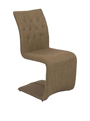 Eurostyle Zad Side Chair, Mocha