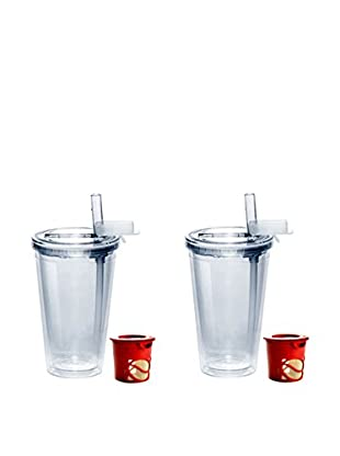 AdNArt Set of 2 My Ice Cups (Red)