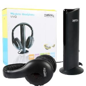 Zebronics Vivo Wireless Headphones With Mic, FM & Monitoring Function