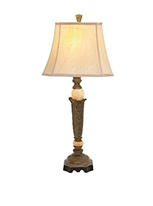 Marble Ball Table Lamp, Brown