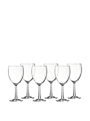Arc International Set of 6 Grand Noblesse 10.25-Oz. Faceted Red Wine Glasses