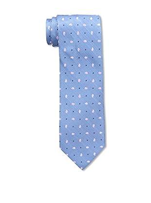 Bruno Piattelli Men's Spaced Teardrop Silk Tie, Blue