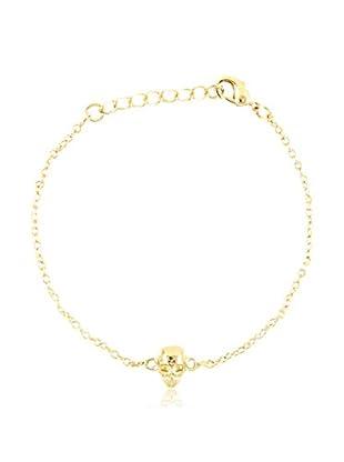 Ettika 18K Gold-Plated Skull Chain Bracelet