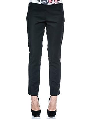 Annarita N Pantalón de Vestir Aderente (Negro)