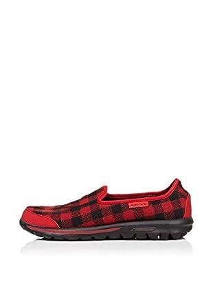 Skechers Zapatillas Go Walk - Sparky (Rojo / Negro)