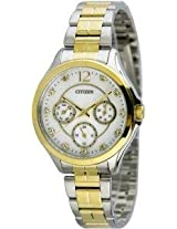 Citizen Analog Mother of Pearl Dial Women's Watch - ED8144-56D