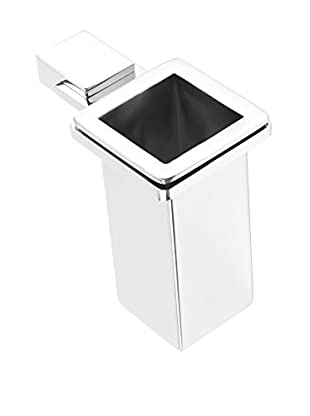 Nameek's Kansas Tooth Brush Holder With Stainless Steel Container, Chrome