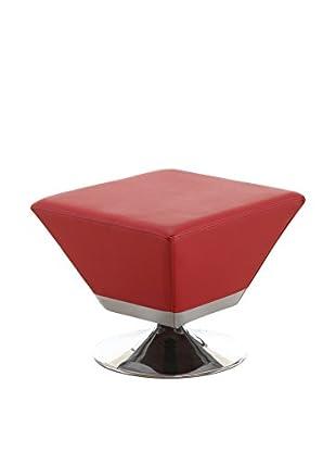Ceets Diamond Ottoman, Red