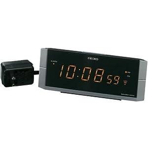 SEIKO CLOCK (セイコークロック) 目覚し時計 電波時計 LED デジタル表示 DL204N