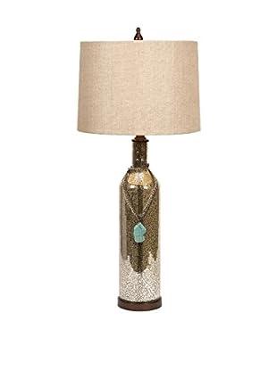 Theobald Mercury Glass Lamp With Turquoise Charm