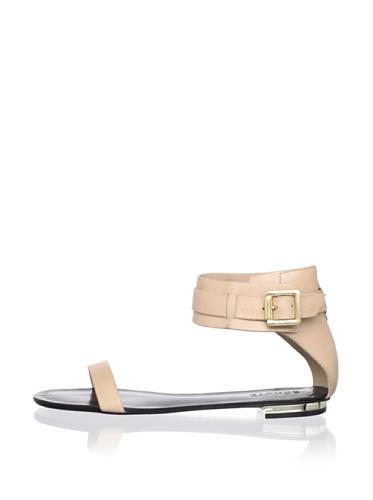 Schutz Women's Ankle Strap Flat (Nude)